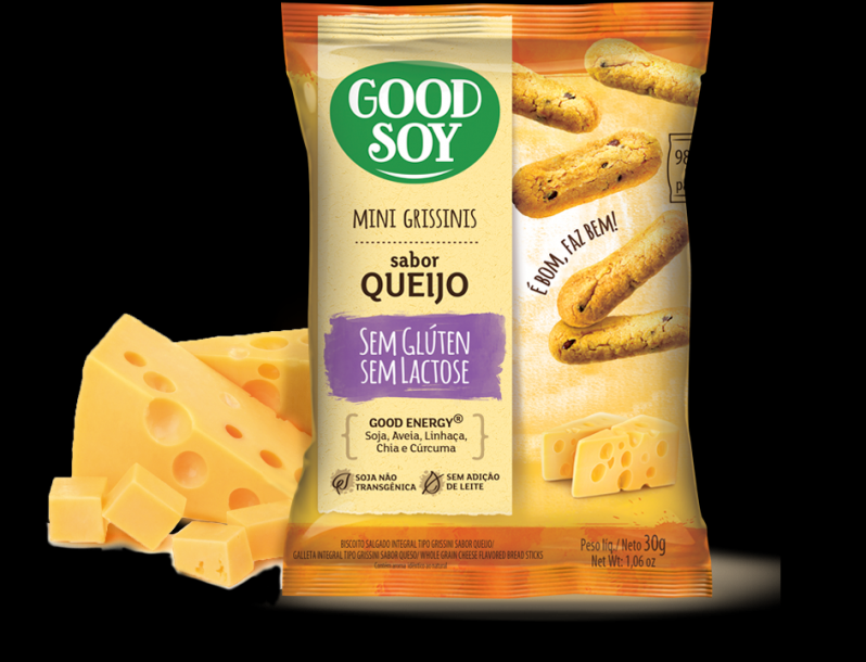 Mini Grissini Good Soy Sabor Queijo sem Lactose